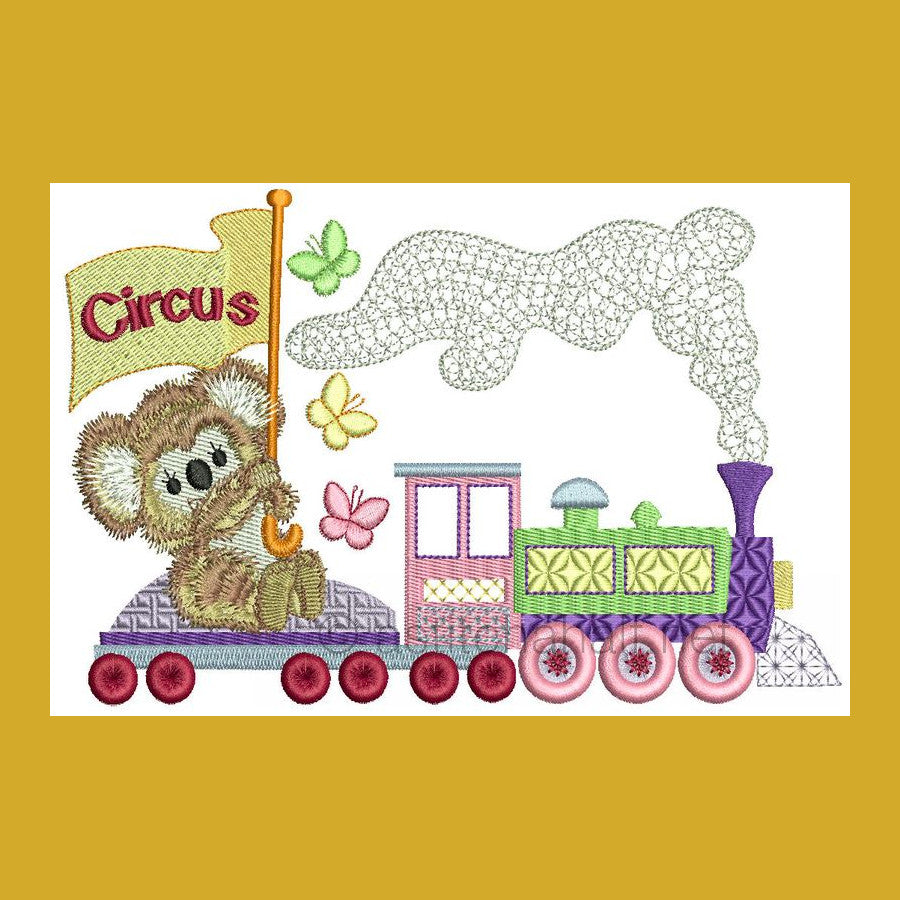 Fuzzy Goes to Circus Combo - a-stitch-a-half