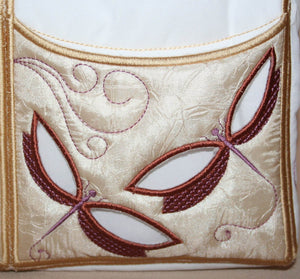 Dragonfly Tote on the Go - a-stitch-a-half