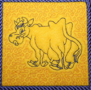 Cow Crazy Trapunto 2 - a-stitch-a-half
