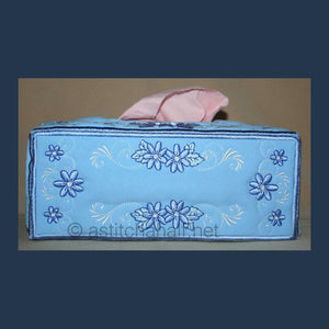 Applique Daisy Charm Tissue box  Covers