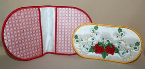 Strawberry Fingertip Oven Mitts - a-stitch-a-half