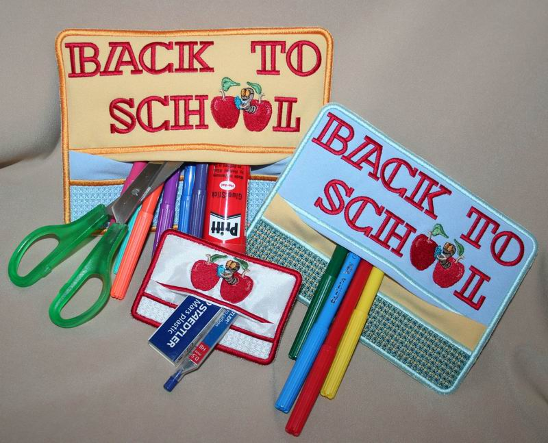 Back to School Pencil Pocket - a-stitch-a-half