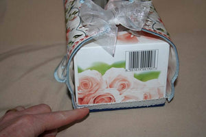 Signature Tissue Box Drape - a-stitch-a-half