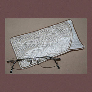 Peacock Lace Eyeglass Case