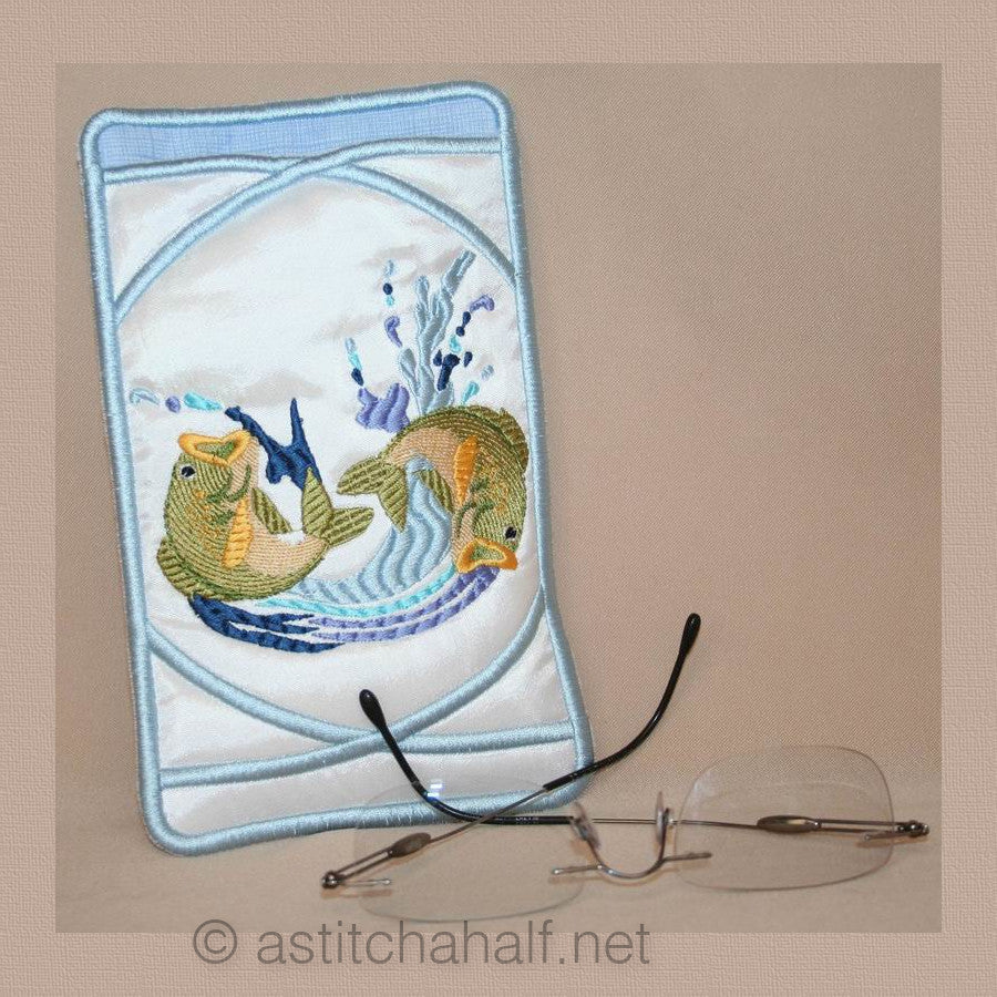 Fish Eyeglass Case - a-stitch-a-half