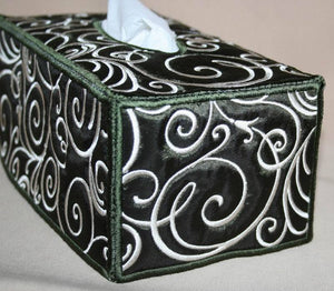Art Deco Tissue Box Cover - a-stitch-a-half