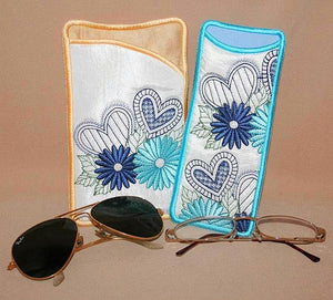 Daisy Hearts Eyeglass Cases