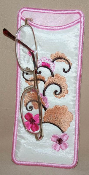 Cherry Blossom Eyeglass Cases - a-stitch-a-half