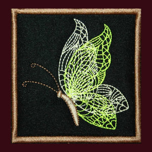 Butterfly Placemat 01 - a-stitch-a-half