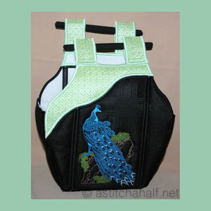 Chinese Peacock Tote Bag 03 - a-stitch-a-half