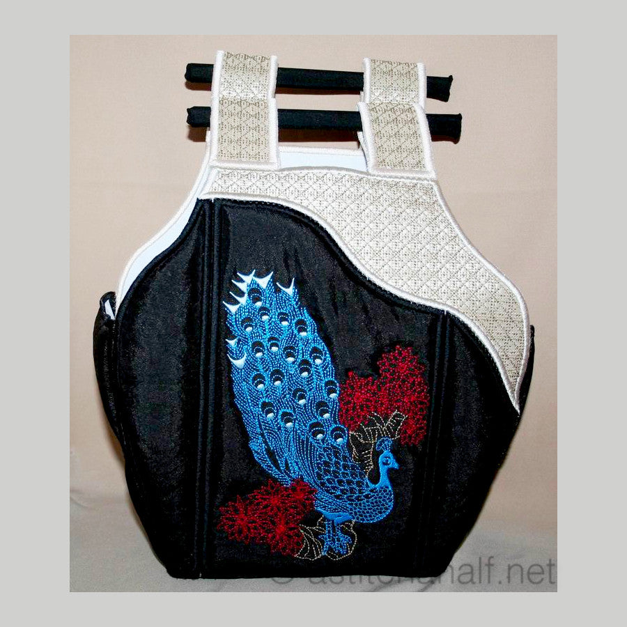 Chinese Peacock Tote Bag 04 - a-stitch-a-half