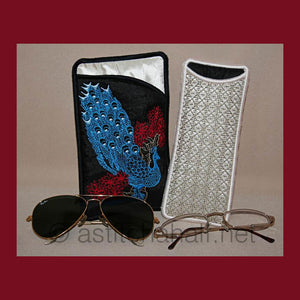 Peacock Eyeglass Cases 04 - a-stitch-a-half