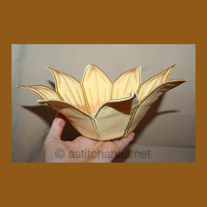 Applique Sunflower Bowl - a-stitch-a-half