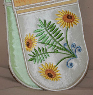 Sunflower BBQ Mitt - a-stitch-a-half