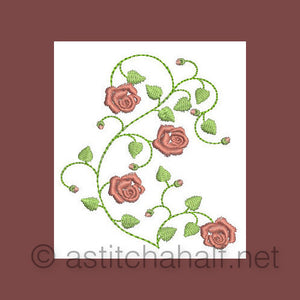 French Rose Miniatures - a-stitch-a-half