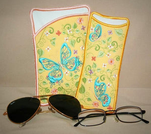Butterfly Blue Eyeglass Cases - astitchahalf