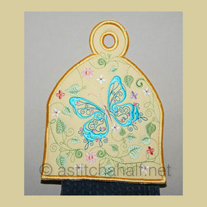 Butterfly Blue Towel Toppers