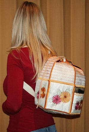 Gerbera Back Pack - a-stitch-a-half
