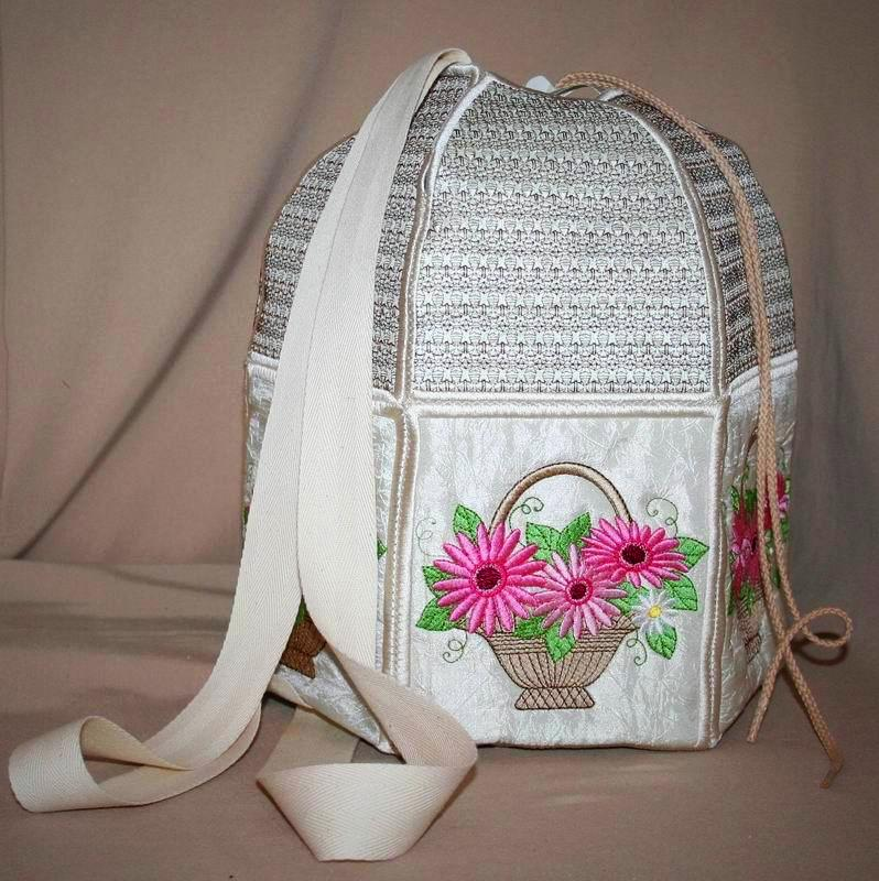 Gerbera Bouquet Back Pack