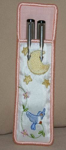 In The Hoop Stars Pen and Pencil Sleeve - a-stitch-a-half