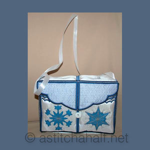 Luminous Snow Crystals Tote Bag - a-stitch-a-half