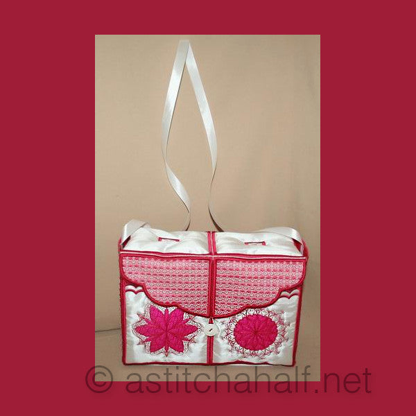 Lovely Snowflake Tote Bag - a-stitch-a-half