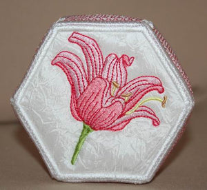 Tiger Lily Trinket Box 01 - a-stitch-a-half