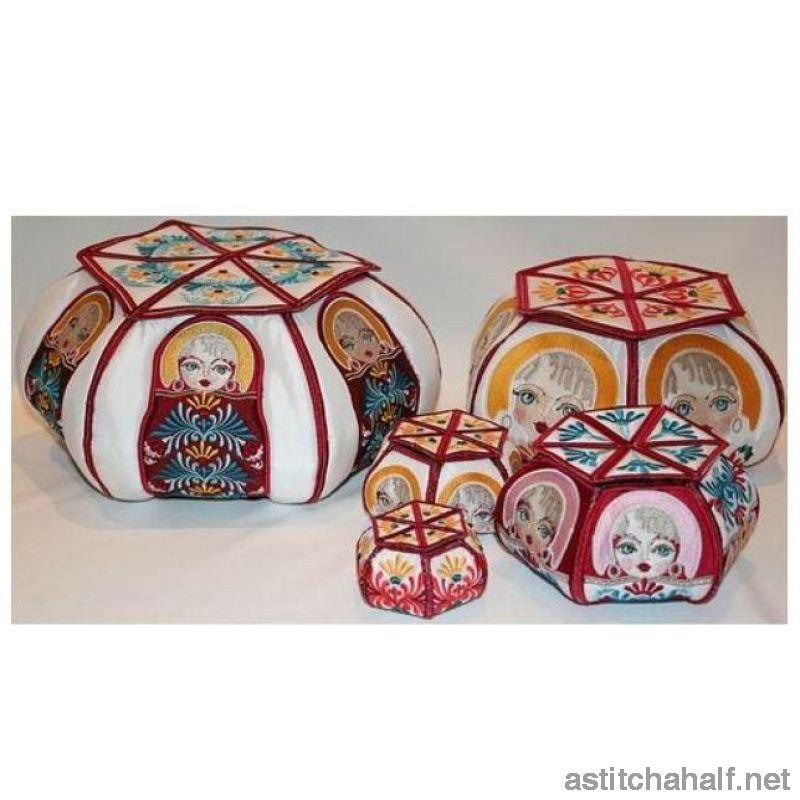 Babushka Duo Boxes Applique