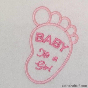 Baby Boy and Girl - a-stitch-a-half