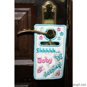 Baby Sleeping Door Hanger - astitchahalf