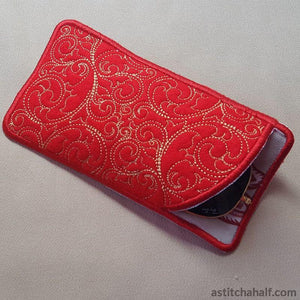 Bare Baroque Eyeglass Case - a-stitch-a-half