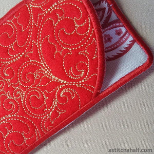 Bare Baroque Eyeglass Case - astitchahalf