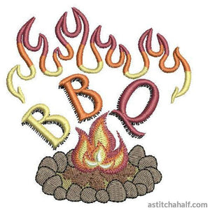 BBQ Camp Fire - a-stitch-a-half
