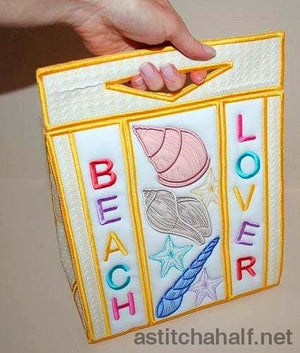Beach Lovers Tote Bag - a-stitch-a-half
