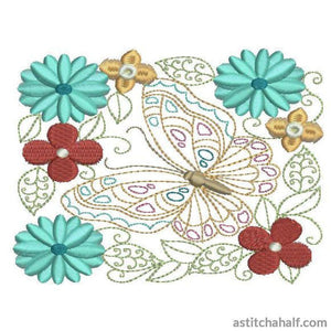 Beautiful Butterfly - a-stitch-a-half