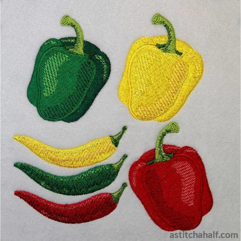 Bell Pepper and Chili Assortment - astitchahalf