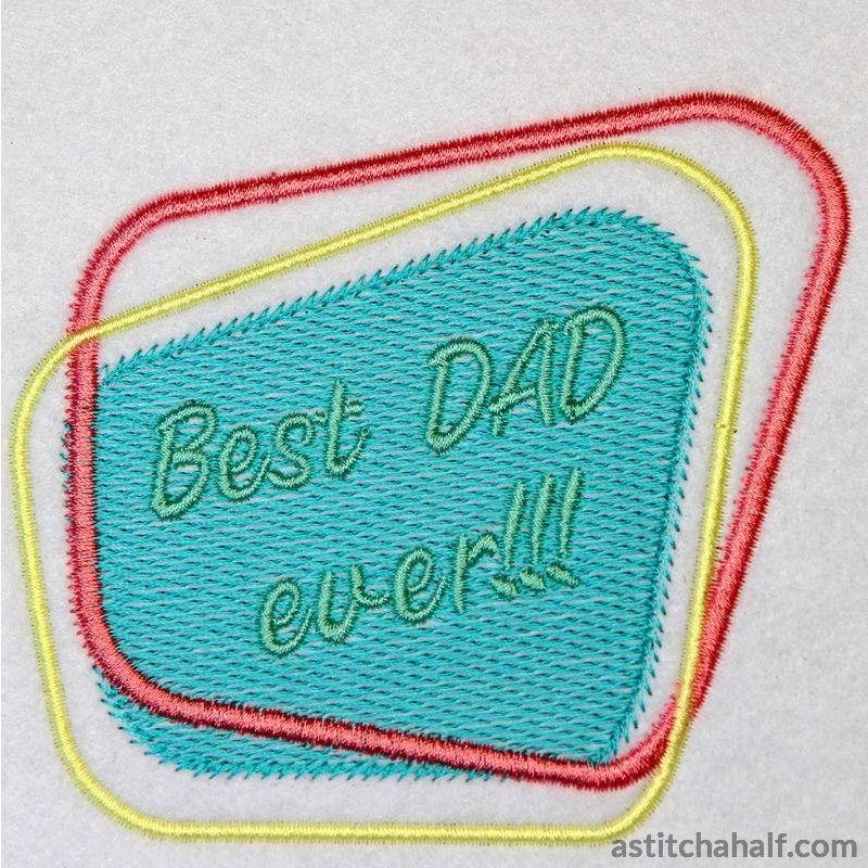 Best Dad Ever Diner Style - a-stitch-a-half