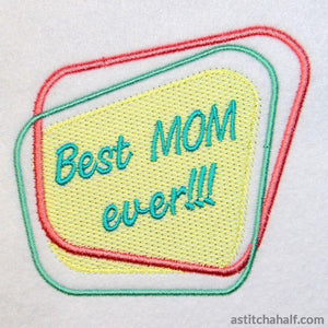 Best Mom Ever Diner Style - astitchahalf