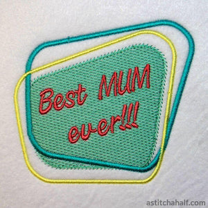 Best Mum Ever Diner Style - astitchahalf