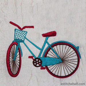 Bicycle Fun Happy Days - a-stitch-a-half