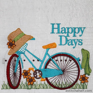 Bicycle Fun Happy Days - astitchahalf