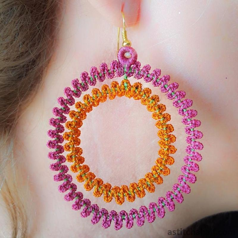 Big Hoop Freestanding Lace Earrings - astitchahalf
