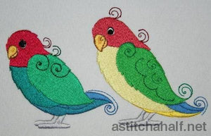 Birds Of A Feather Embroidery Fill