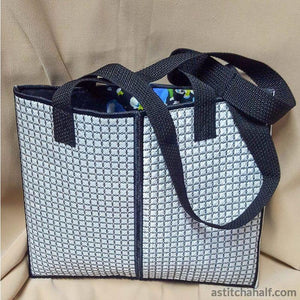 Block Beauty Bag - a-stitch-a-half