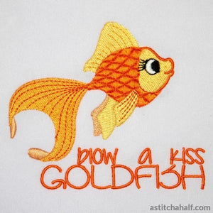 Blow a Kiss Gold Fish - astitchahalf