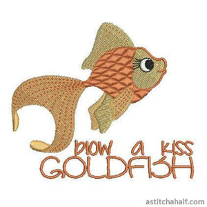 Blow a Kiss Gold Fish - a-stitch-a-half