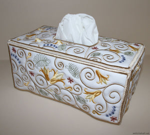 Blue Berry Tissue Box Cover - a-stitch-a-half