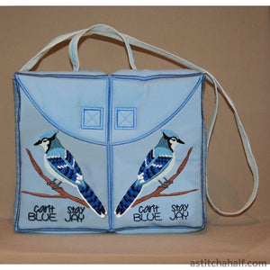Blue Jay Tote Bag - a-stitch-a-half