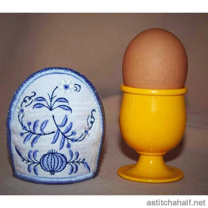 Blue Onion Egg Cozy - astitchahalf