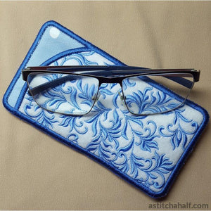 Blue Song Eyeglass Case - a-stitch-a-half